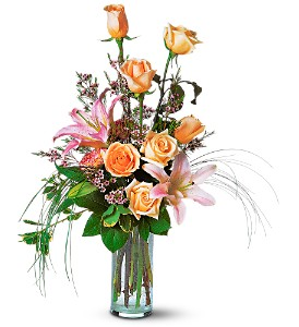 Rose and Lily Splendor in Sylmar CA, Saint Germain Flowers Inc.