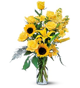 Blazing Sunshine in Bowmanville ON, Bev's Flowers