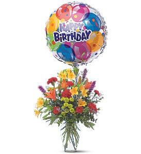 Birthday Balloon Bouquet in Evansville IN, Cottage Florist & Gifts