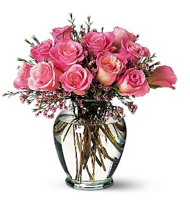 Pink Birthday Roses in St Catharines ON, Vine Floral