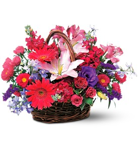 Joyous Birthday Basket in The Woodlands TX, Top Florist