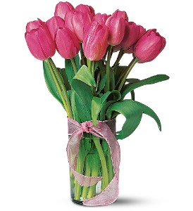 Pink Tulips in Laurel MD, Rainbow Florist & Delectables, Inc.