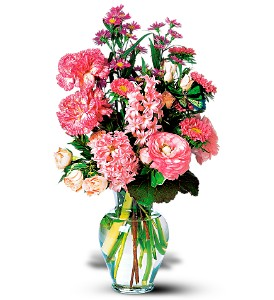 Pink Spring Bouquet in Indianapolis IN, Gillespie Florists