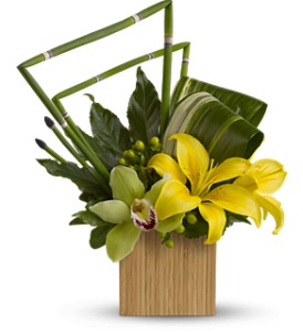 Teleflora's Bamboo Zen in West Los Angeles CA, Sharon Flower Design