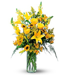 Burst of Yellow in Belford NJ, Flower Power Florist & Gifts