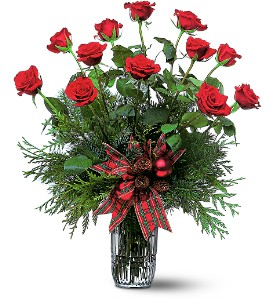 Holiday Red Roses in New York NY, Fellan Florists Floral Galleria