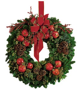Pomegranate Wreath in St. Louis MO, Walter Knoll Florist