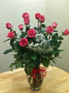 Hot Pink Roses in Naples FL, Gene's 5th Ave Florist