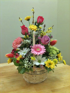 Spring Garden Basket in Naples FL, Gene's 5th Ave Florist