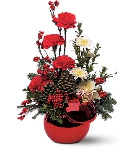 Teleflora's Holiday Ornament in Oklahoma City OK, Array of Flowers & Gifts