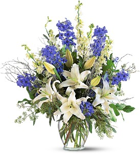 Sapphire Miracle Arrangement in Oshkosh WI, Flowers & Leaves LLC