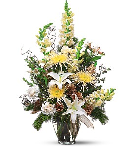 Winter Whites and Glittering Golds in Boynton Beach FL, Boynton Villager Florist