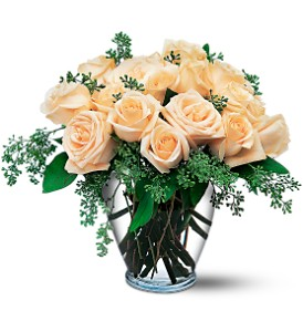 White Roses in Bowmanville ON, Bev's Flowers