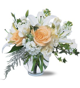 White Roses & Lilies in Benton Harbor MI, Crystal Springs Florist