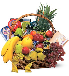 Gourmet Fruit Basket in Houston TX, Killion's Milam Florist