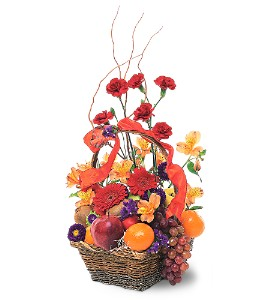 Fruits and Flowers Basket in Wake Forest NC, Wake Forest Florist