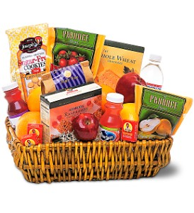 Healthy Gourmet Basket in San Clemente CA, Beach City Florist