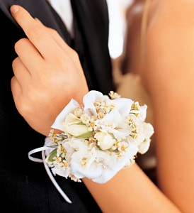 Mixed Whites Wristlet in Orlando FL, Harry's Famous Flowers