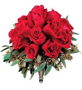 Velvet Red Roses Nosegay in Pearland TX, The Wyndow Box Florist