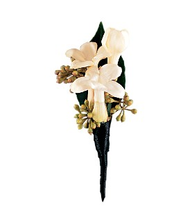 Stephanotis Boutonniere in Big Rapids MI, Patterson's Flowers, Inc.