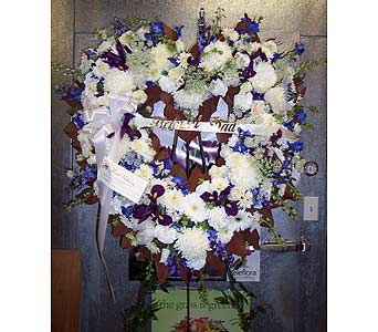 BLUE AND WHITE OPEN HEART in Port Chester NY, Floral Fashions