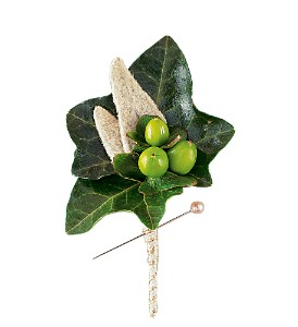 Mixed Foliage Boutonniere in Sun City Center FL, Sun City Center Flowers & Gifts, Inc.