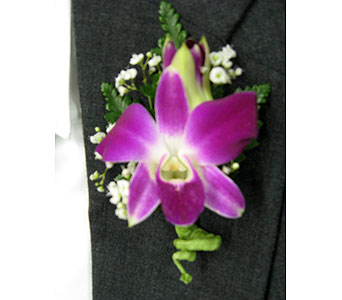 PURPLE DENDROBIUM ORCHID BOUTONNIEREPlease call for pricing in New Paltz NY, The Colonial Flower Shop