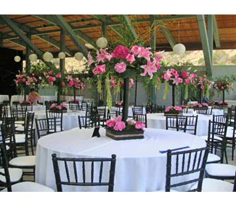 Wedding Reception in West Los Angeles CA, Westwood Flower Garden