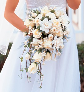 White Cascade Bridal Bouquet in Kailua Kona HI, Kona Flower Shoppe