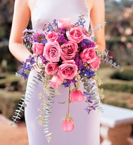 Cascading Lavender Roses Bouquet in Chicago IL, Soukal Floral Co. & Greenhouses