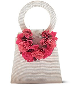 Plush Pinks Purse Corsage in Orlando FL, Harry's Famous Flowers