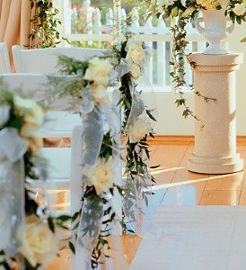 Home Ceremony Chair Cluster in Fort Lauderdale FL, Brigitte's Flowers Galore