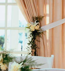 Home Ceremony Curtain Cluster in Fort Lauderdale FL, Brigitte's Flowers Galore