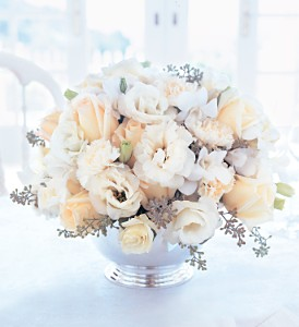 Ivory Centerpiece in Fort Lauderdale FL, Brigitte's Flowers Galore