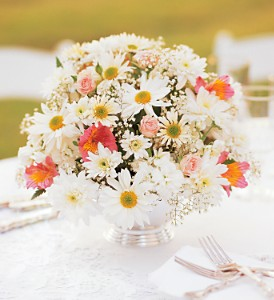 Daisy Joy Centerpiece in Largo FL, Rose Garden Florist