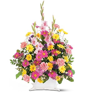 Spring Remembrance Basket in Bend OR, All Occasion Flowers & Gifts