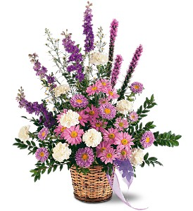 Lavender Reminder Basket in Beaumont CA, Oak Valley Florist