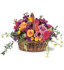 Garden Gathering Basket in Oklahoma City OK, Array of Flowers & Gifts