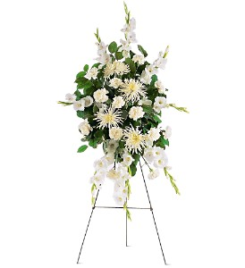 White Promises Spray in Bend OR, All Occasion Flowers & Gifts