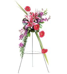 Stargazer Lily and Gerbera Spray in Laurel MD, Rainbow Florist & Delectables, Inc.