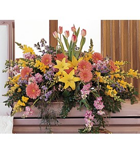 Blooming Glory Casket Spray in Oklahoma City OK, Array of Flowers & Gifts