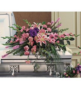 Triumphant Casket Spray in Big Rapids MI, Patterson's Flowers, Inc.