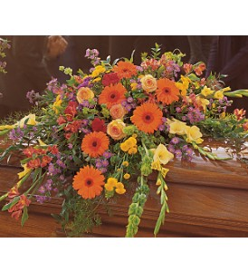 Summer Sentiments Casket Spray in Wyoming MI, Wyoming Stuyvesant Floral