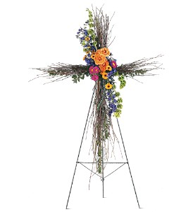 Birch Compassion Cross in Beaumont CA, Oak Valley Florist