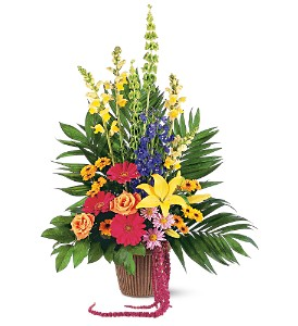Celebration of Life Arrangement in Brighton MI, Meier Flowerland & Greenhouse