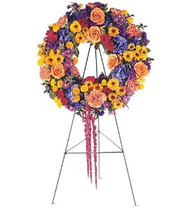 Celebration Wreath in Laurel MD, Rainbow Florist & Delectables, Inc.