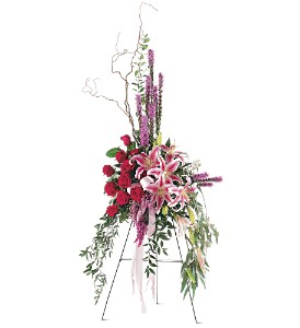 Amethyst and Ruby Standing Spray in Bend OR, All Occasion Flowers & Gifts