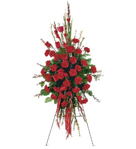 Red Regards Spray in Tuckahoe NJ, Enchanting Florist & Gift Shop