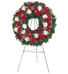 Hope and Honor Wreath in DeKalb IL, Glidden Campus Florist & Greenhouse
