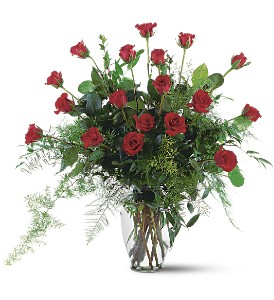 Red Rose Tribute Vase in Osceola IA, Flowers 'N More